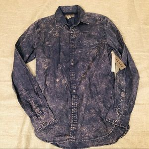 Decree Acid Wash Button Down Shirt